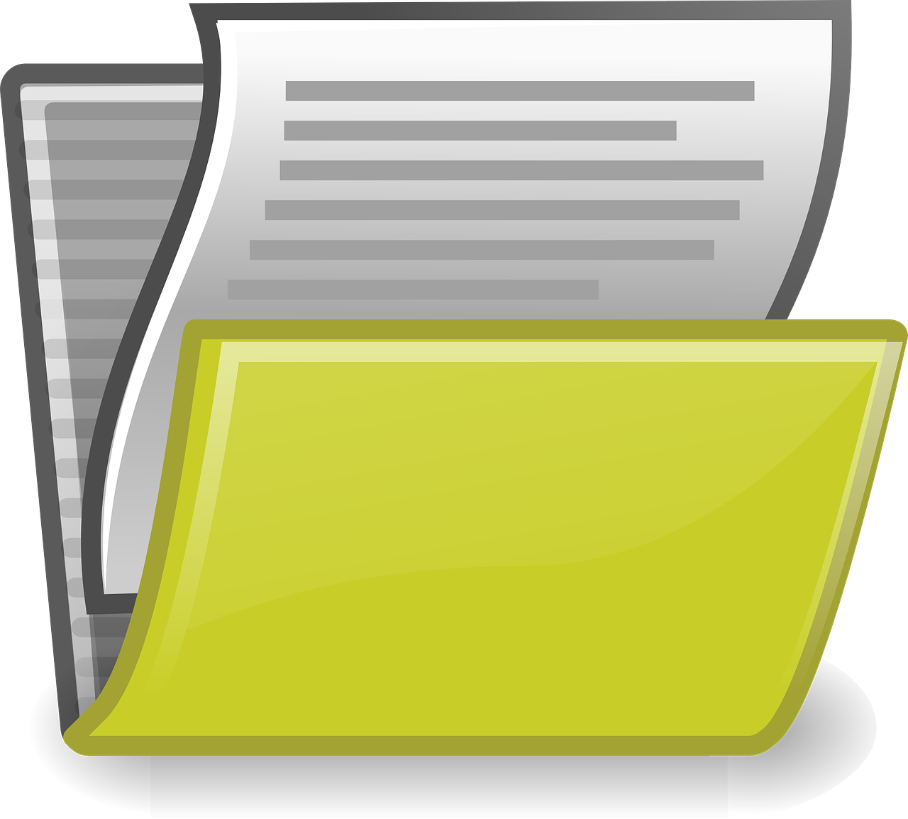 folder, files, paper